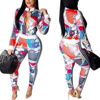 90305-MX25 factory wholesale jacket tops designs Floral jumpsuits women