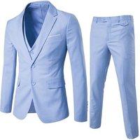 Mens Slim Fit 3 Piece Suit One Button Blazer Tux Vest and Trousers