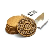 2019 custom logo print factory wholesale cheap beer bar cork wood coasters for drink