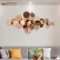Home interior decoration 3D metal wall hanging art mind craft