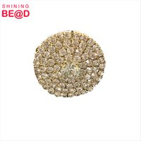 Factory New Cheap Gold Plated Round Shape Napkin Holder table napkin ring for Wedding Centerpieces for table