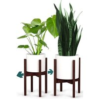Indoor/Outdoor Bamboo Flower Plant Stand Flower Racks Bamboo Desktop Flower Shelf
