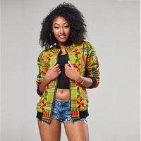 Autumn Print Blazer Coat African Women Dashiki Jacket