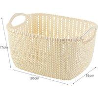 Portable multifunction breathable design plastic rattan storage basket