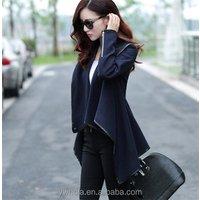 New Winter Womens Loose Bat Irregular Faux Fur Woolen Shawl Cape Jacket Coat
