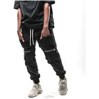 2019 New Arrivals Zipper Multi Pockets Harem Joggers Cargo Pants Sweatpants Streetwear Mens Harajuku Trousers