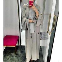 New Kaftan Duba Abaya in Dubai Muslim Kimono Muslim Women Dress Open Pearl Kimono Cardigan Latest Abaya