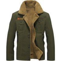 Custom Men Winter Airline Pilot  Fur Collar  Jacket, Airforce Army Thermal Cotton Jacket Coat