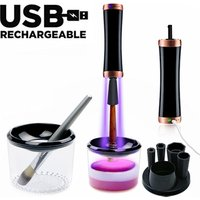 UV ray disinfecting lamp USB rechargeable Electric make up brush cleaner and dryer machine disinfection for makeup brush