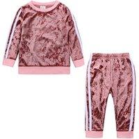 2019 Baby Boys Clothing Sets Kids Girls Tracksuits Sport Suit Fleece Jacket Spring Autumn Clothes Children Casual Set