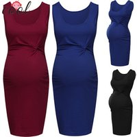 Womens pregnant clothes sleeveless dress maternity clothing dresses breastfeeding