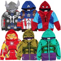 High quality fall cartoon characters super baby boy kid coat jacket