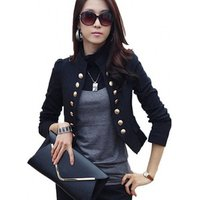 Suit Jacket Female Blazers Feminino Ladies Blazers Double Breasted Women Blazer Slim Short Jacket Y10353