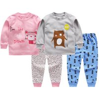 S65636A new childrens clothing childrens home suit pajamas two pieces sets
