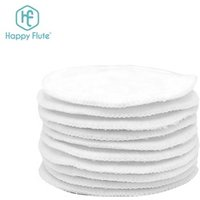 Best quality round bamboo cotton  reusable makeup remover pad washable facial cleaning pad with laundry bag