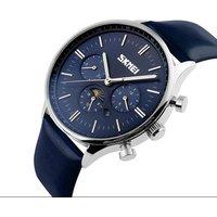 skmei 9117 hot sale watch men custom brand watches genuine leather de longe quartz wristwatch