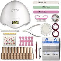 Professional Nail Art UV Gel Polish set 48w UV LED Lamp Manicure Kit