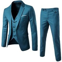 Top seller suit set man royal blue 3 pieces suit pant coat price in turkish two button single breasted