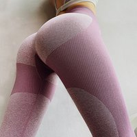New design heart pattern high quality elastic waist band seamless running sports pants leggings for women