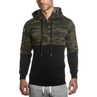 Men sweatshirts sweater hoodi muscle sports coat men long sleeve fitness jacket street style hoodies