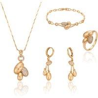 63238 Xuping wholesale chinese costume jewellery elegant bridal gold jewelry set providing free sample