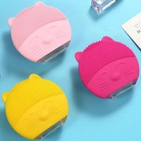 Electric Mini Face Exfoliate Brush Deep Pore Cleaner Wireless Silicone Facial Cleansing Brush Waterproof