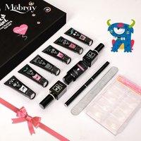 Mobray acrylic nail art gel polish easy shape extension gum poly gel kit