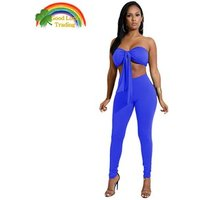 High Quality Women Sexy Clothing 2 Pieces Set Crop Top And leggings Set