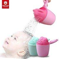 'Cartoon Bear Shape Kids Baby Bath Shower Shampoo Cup Spoons Washing Head Hair Tearless Tub Bath Products Care For Children