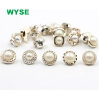 white pearl sewing button for shirt coat garment clothes metal shank button