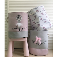 Ballet shoes girl bow popular storage bucket dirty clothes bag toy cloth storage bucket