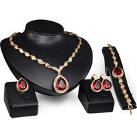 Fashion ladies gold weddings fine jewelry set necklace for women Wholesale N8000159