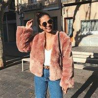 china clothing manufacturer women warm faux fur short jacket coat