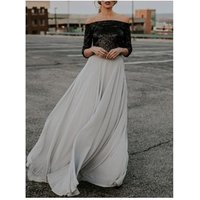 New Women High Waist Flared Gypsy Long Maxi Full Skirt Ladies Summer Fashion Solid Party Beach Evening Skirts