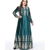 A4249 New Dubai Kaftan Fancy Abaya Jalabiya Beaded Green Caftan Dress