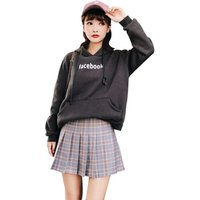 Women Casual Plaid Skirt Girls High Waist Pleated Skirt A-line School Skirt Uniform With Inner Shorts
