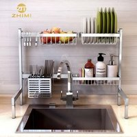 Whosale Free combination Multipurpose Stainless Steel Over Sink Dish Drying Drainer Rack