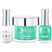 Fast Drying Nail Dip Powder 3 in 1 set color match Gel Polish and Nail Lacquer