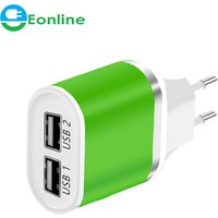 '5v 2.1ausb Charging Quick (2 Ports) Smart Mobile Phone Charger Desktop Usb Charger For Iphone Samsung (12 Colors)