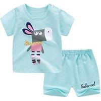 Wholesale casual cloth baby boy shorts set 2 pieces children t-shirt suit