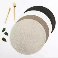 Wholesale crochet round pp placemat for wedding home dinner table use