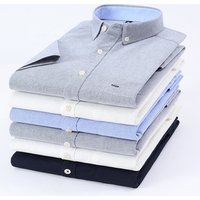 Custom casual 100% cotton oxford camisas smart texture short sleeve chemise homme button down design mens dress shirt