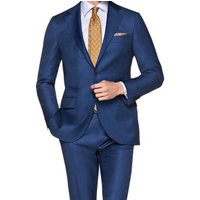 Hot sale Italy style dressmaker costume mens wool blazer and pant slim fit navy man suit