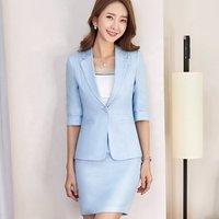Elegant Women skirt suit office wear business uniform for reception hotel Suits Formal Work Wear Sets support custom-made