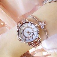 2019 New Women Quartz Watches Luxury Diamond Famous Elegant Dress Watches Top Brand Ladies Wristwatch (KWT82096)