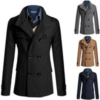 22N036 OEM Welcome Latest Design Men Woolen Over Winter Coat High Quality Cotton Mens Coats
