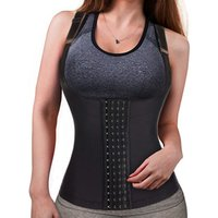 Womens Postpartum Waist Trainer Corset Vest Slimmer Body Shaper Shapewear For Tummy Control Postpartum Girdle Tank Top Leather
