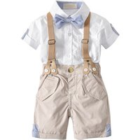 Newborn Baby Clothes New Kids Baby Boys Clothing Cotton Frocks Designs 100% Cotton Bow Tie Boyset Clothes   19A204