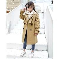 Latest design Autumn winter button up kids trench coat christmas classic trench  for kids