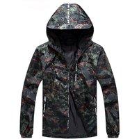 Cheap All Black Pullover Windbreak 100% Polyester Camouflage Waterproof Camo Men Sport Jacket